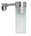 Светильник галогенный для ванной комнаты. G9,25W, 220V, IP23, сталь, стекло.