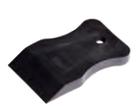 Шпатель резиновый, черный 40 мм