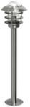 """Светильник уличный. серия """"AMALFI"""" Е27, 60W. IP44. Нержавеющая сталь, стекло. Высота 950мм."""