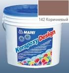 эпоксидная затирка для швов Kerapoxy Design 3кг цв. 142 коричневый