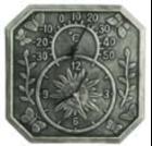Часы с термометром Windsor 34 *34 * 4см
