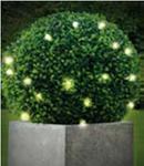Искуственное растение Topiary Ball 30cm листья + 20LED , работает от АА батареек