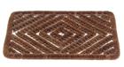 Коврик-скребок  для чистки обуви 40 х 60см, кокосовое волокно на стальной рамке