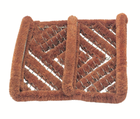 Скребок для чистки обуви  30 х 32 см, кокосовое волокно на стальной рамке