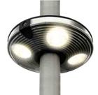 """Светильник уличный светодиодный. серия """"ATLANTA"""" 4X4 LED, 1,2W. IP44. Пластик. диаметр 200мм."""