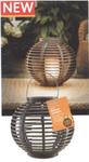 Светильник круглый с LED свечей 20cm x 20cm иск раттан