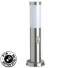 Светильник уличный настенный люминесцентный с датчиком движения на 115°. Е27, 20W. IP44. Нержавеющая сталь, пластик.Высота 450мм