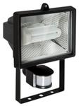 Прожектор люминесцентный  с датчиком движения на 116°. R7s, 24W, IP44, Алюминий, стекло.