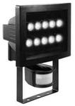 Прожектор светодиодный с датчиком движения на 180°. 10xHP-LED, 10x1,6W, IP44, Алюминий, стекло.