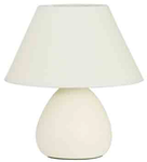 Лампа настольная LYNN. 220V,E14, 40W. Керамика. Абажур текстиль. Высота 24см.