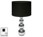 Лампа настольная MANDY. 220V,E14,40W.Сенсорный выключатель. Металл. Абажур текстиль. Высота 43см.