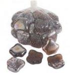 Камни декоративные стеклянные Leaves1kg