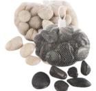 Камни декоративные черные/белые1kg