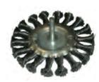 Щетка-крацовка для дрели круглая со шпилькой , крученная проволока 75 мм