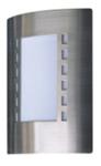 """Светильник уличный настенный. серия """"MESSINA"""" Е27, 60W. IP44.Нержавеющая сталь, пластик."""