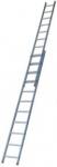 Лестница двухсекционная алюминиевая, 7 ступеней, 196/308 см