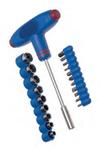 Набор слесарно-монтажный с Т-образной ручкой и битами - 20 шт.