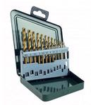 Набор нитридтитановых сверл по металлу 1,5-6,5 мм (шаг через 0,5 мм + сверло 3,2 мм) 13шт. в металлической коробке