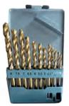 Набор нитридтитановых сверл по металлу 2,0-8,0 мм (шаг через 0,5мм) 13шт. в металлической коробке