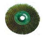 Щетка-крацовка круговая 100мм (сталь. волнистая проволока)