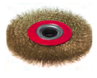 Щетка-крацовка для УШМ круглая, диаметр 200мм, посадочный диаметр 22,2мм