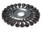 Щетка-крацовка для УШМ дисковая, крученная проволока, диаметр 125мм, посадочный диаметр 22,2мм