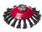 """Щетка-крацовка для УШМ """"тарелка"""", крученная проволока, диаметр 125мм, присоединительная гайка М14"""