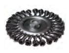 Щетка-крацовка для УШМ дисковая, крученная проволока, диаметр 175 мм, посадочная гайка М14