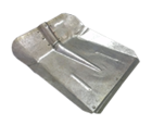 Лопата снегоуборочная оцинкованная с накладкой, 385x330 мм, б/ч