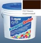 эпоксидная затирка для швов Kerapoxy Design 3кг цв. 731 тёмно-коричневый