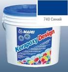 эпоксидная затирка для швов Kerapoxy Design 3кг цв. 740 синий