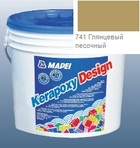 эпоксидная затирка для швов Kerapoxy Design 3кг цв. 741 глянцевый песочный