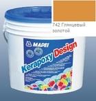 эпоксидная затирка для швов Kerapoxy Design 3кг цв. 742 глянцевый золотой