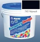 эпоксидная затирка для швов Kerapoxy Design 3кг цв. 743 чёрный