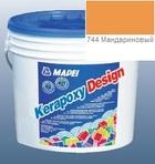 эпоксидная затирка для швов Kerapoxy Design 3кг цв. 744 мандариновый