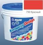 эпоксидная затирка для швов Kerapoxy Design 3кг цв. 750 красный