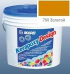 эпоксидная затирка для швов Kerapoxy Design 3кг цв. 760 золотой