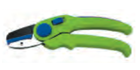 Секатор сад. 190 мм, тефлоновые лезвия, наковаленка, пласт. ручки, рез до 15 мм