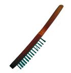 Щетка проволочная стальная с деревянной рукояткой, 3 ряда