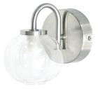 Светильник галогенный для ванной комнаты. G9,40W,220V,  IP23, сталь, стекло.