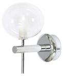 Светильник галогенный для ванной комнаты. G9,40W,220V,  IP44, сталь, стекло.