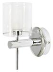 Светильник галогенный для ванной комнаты. G9, 40W,220V,  IP44, сталь, стекло.