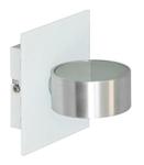 Светильник галогенный для ванной комнаты. G9, 40W, 220V,  IP44, сталь, стекло.