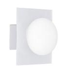 Светильник настенно потолочный галогенный для ванной комнаты. G9,40W,220V,  IP44, сталь, стекло.