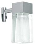 Светильник галогенный для ванной комнаты. G9,25W,220V,  IP23, сталь, стекло.