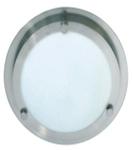 Светильник настенно потолочный для ванной комнаты.  диам 310мм. Е27,60W,220V,  IP44, сталь, стекло.
