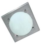 Светильник настенно потолочный  для ванной комнаты. диам 280мм. Е27,60W,220V,  IP23, сталь, стекло.