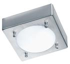Светильник настенно потолочный галогенный для ванной комнаты. диам 180мм.G9,40W,220V,  IP44, сталь, стекло.