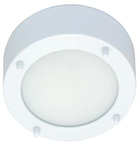 Светильник настенно потолочный галогенный для ванной комнаты.диам 190мм. 2хG9,25W,220V,  IP23, сталь, стекло.