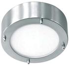 Светильник настенно потолочный галогенный для ванной комнаты.диам 190мм. 2хG9,25W, 220V,  IP23, сталь, стекло.